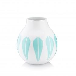 Lucie Kaas Hvid/Mint Lotus Vase