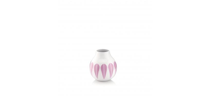 Lucie Kaas Hvid/Pink Lotus Vase