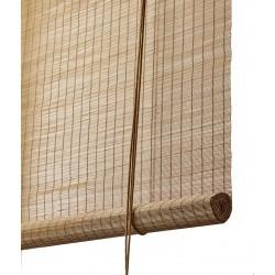 Color & Co brun fin bambus rullegardin