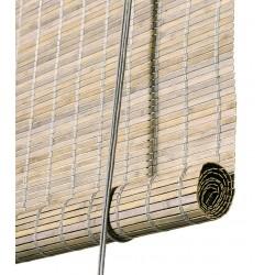 Color & Co grå bejdset bambus rullegardin