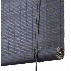 Color & Co mørkegrå malet bambus rullegardin