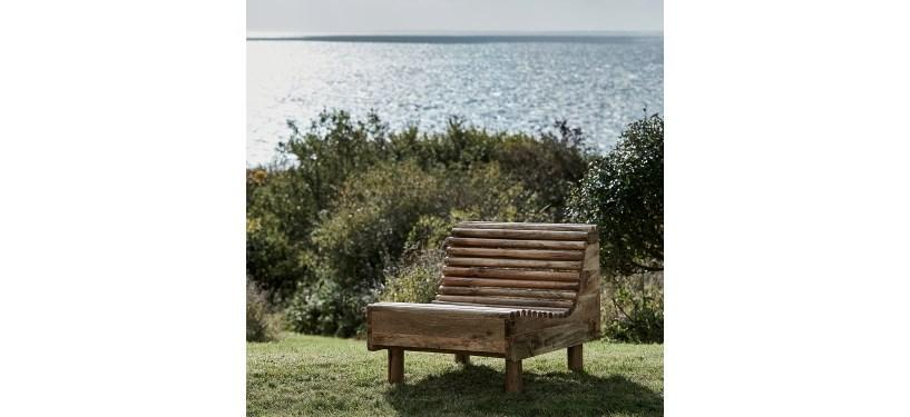 House Doctor Loungestol Wave Natur