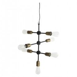 House Doctor Lampe Molecular Sort/Messing