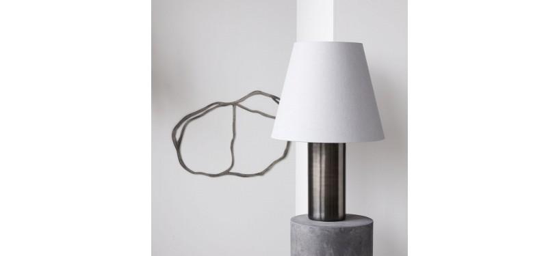 House Doctor Bordlampe Bakora Antik metallisk