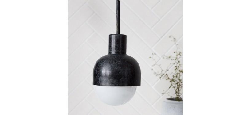 House Doctor Lampe Glow Sort oxideret