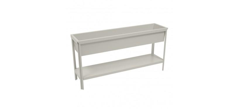 Fermob Terrazza Medium Planter · Steel Grey