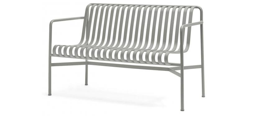 HAY Palissade Dining Bench · Sky grey