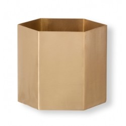Ferm Living Hexagon Pot Brass