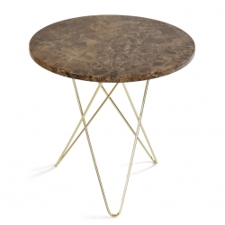 Ox Denmarq Mini O Table Tall Brun Marmor