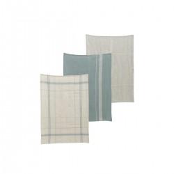 Nicolas Vahe Tea towel, Linen, Asstd. 3 designs, Pack of 3 pcs