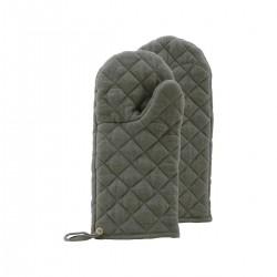 Nicolas Vahe Oven gloves, Linen, Green, Pack of 2 pcs