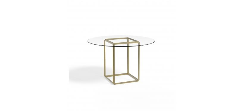 New Works Florence Dining Table Ø120 Glass