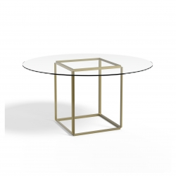 New Works Florence Dining Table Ø145 Glass