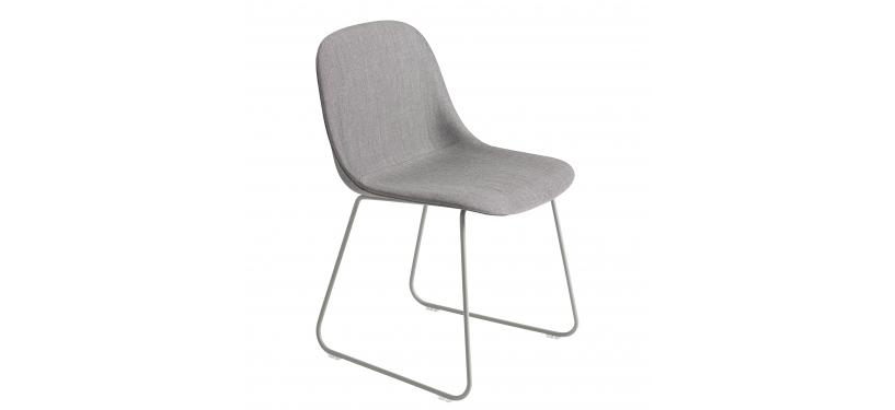Muuto Fiber Side Chair Sled · Dusty Red/Dusty Red