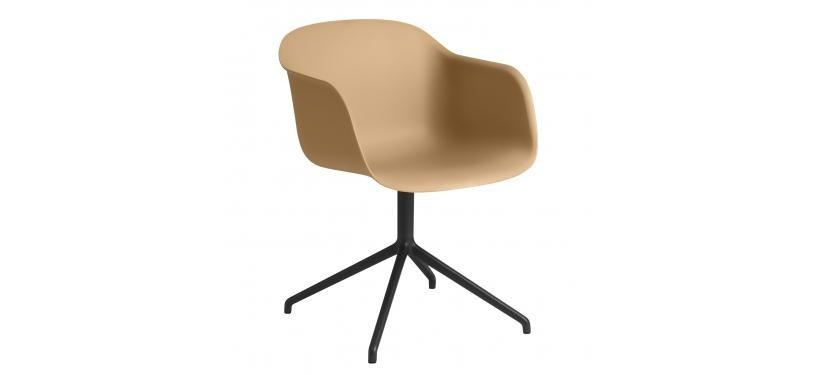 Muuto Fiber Side Chair Wood Fuldpolstret · Remix 183 · Sort