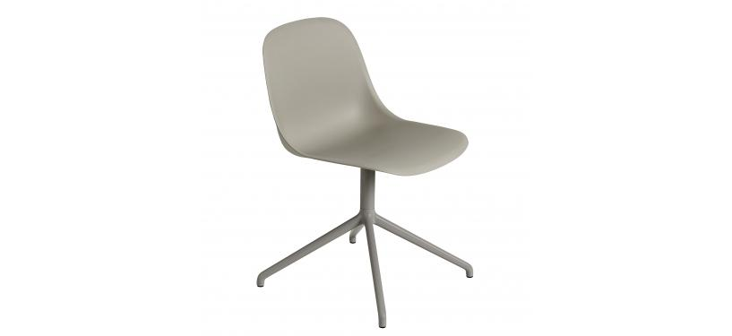 Muuto Fiber Side Chair Wood Fuldpolstret · Remix 183 · Sort