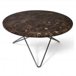 Ox Denmarq O Table Brun Marmor Sort Stel