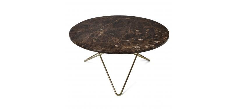 Ox Denmarq O Table Brun Marmor Messing Stel