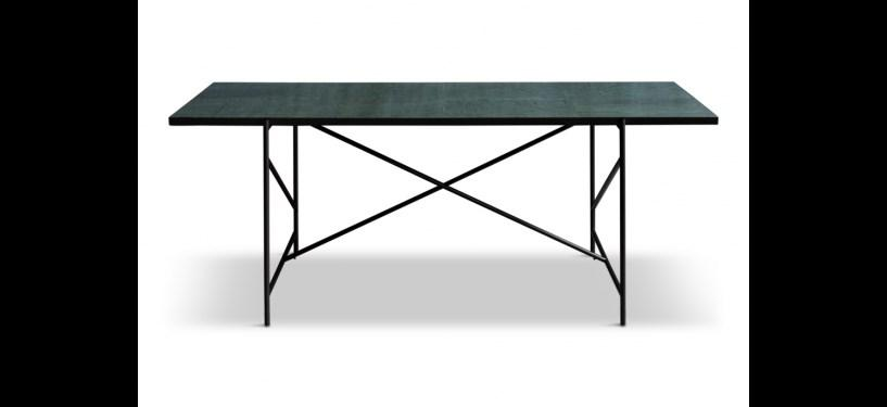 Handvärk Dining Table 185 · Marmor sort · Sort