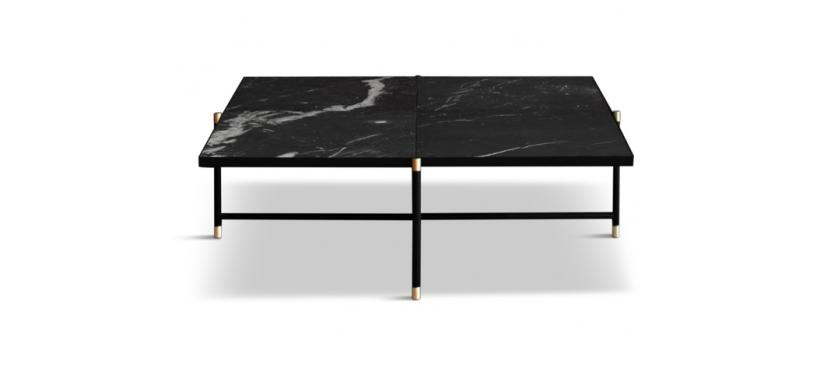 Handvärk Coffee Table 90 · Marmor grøn · Sort