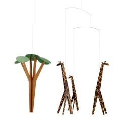 Flensted Mobiles Giraffer På Savannen