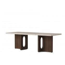 Menu Androgyne Lounge Table, Træ · Dark Stained Oak/Kunis Breccia Sand