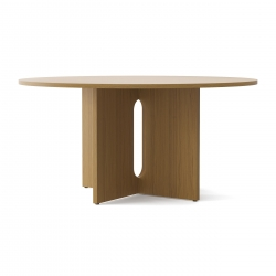 Menu Androgyne Dining Table, Træ · Ø150 Natural Oak
