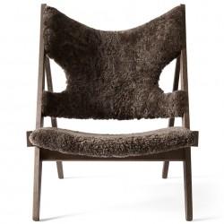 Menu Knitting Lounge Chair, Sheepskin