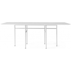 Menu Snaregade Dining Table, Rectangular · Light Grey/Light Grey Oak