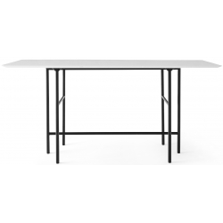Menu Snaregade Bar Table, Rectangular · Black/Light Grey Oak