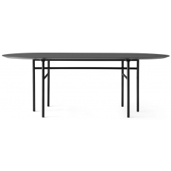 Menu Snaregade Dining Table, Oval · Black/Charcoal Linoleum
