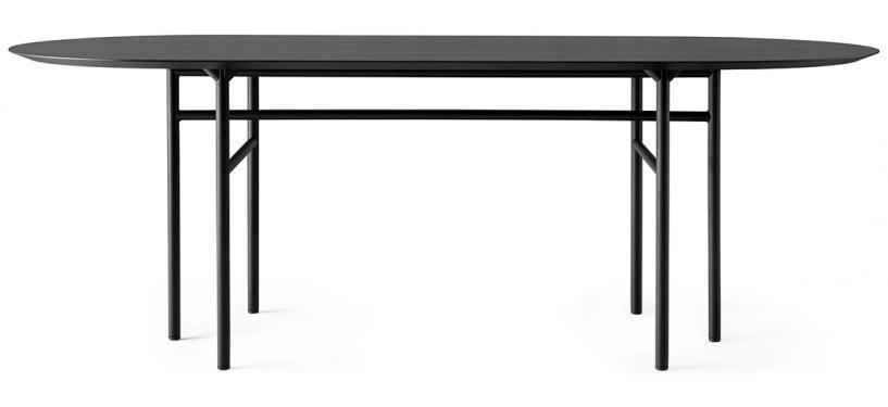 Menu Snaregade Dining Table, Oval · Black/Black Oak