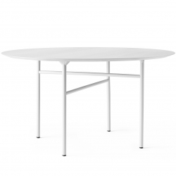 Menu Snaregade Dining Table, Round · 38 · Light Grey Oak