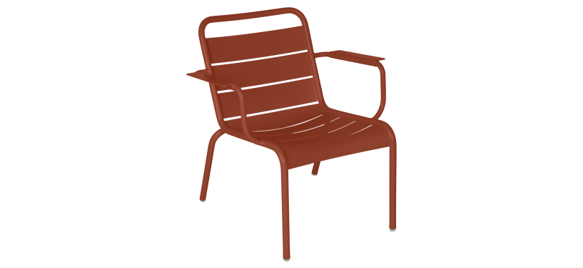 Fermob Luxembourg loungestol · Red Ochre