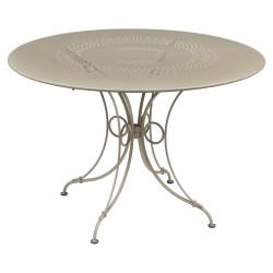 Fermob 1900 Table · Ø 117 · Acapulco blue
