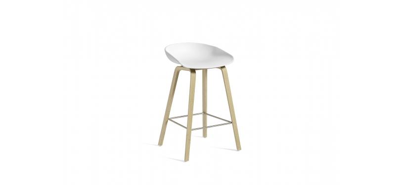 HAY About a Stool AAS32 · Soaped nature / SS / White
