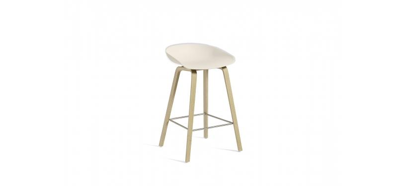 HAY About a Stool AAS32 · Soaped nature / SS / Cream white
