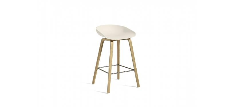 HAY About a Stool AAS32 · Waterbased nature / SS / Cream white