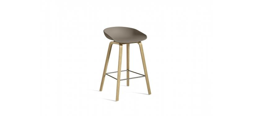 HAY About a Stool AAS32 · Waterbased nature / SS / Khaki