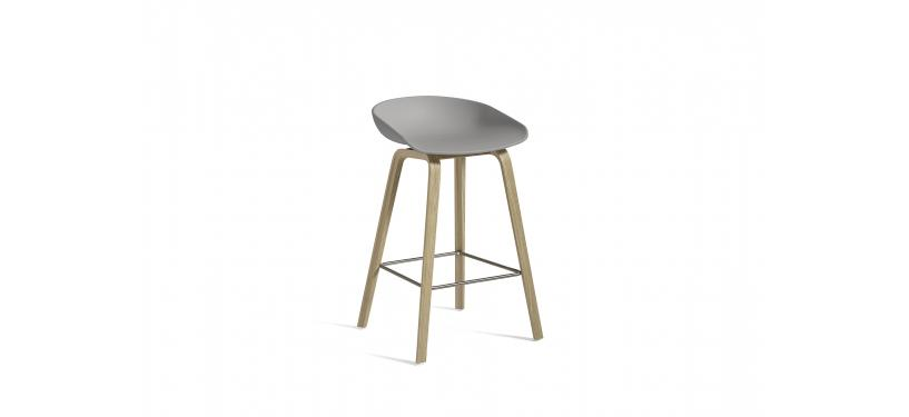 HAY About a Stool AAS32 · Waterbased nature / SS / Concrete grey