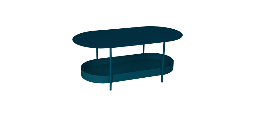 Fermob Salsa Side Table · Acapulco Blue
