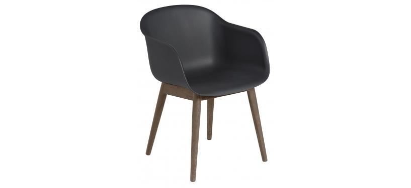Muuto Fiber Arm Chair Wood · Natural Hvid/Eg