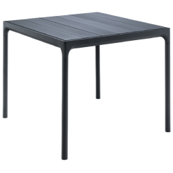 HOUE FOUR Table 90x90 Black Top