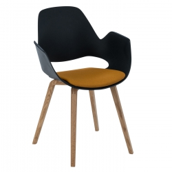 HOUE FALK Chair Solid Oak Legs w. Padded Seat
