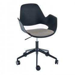 HOUE FALK Chair 5 Castor Base Legs w. Padded Seat
