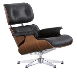 Vitra Eames Lounge Chair Sortpigmenteret Valnød
