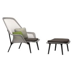 Vitra Slow Chair + Ottoman Brown/Cream