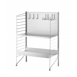 String Free Standing Shelf Galvanized