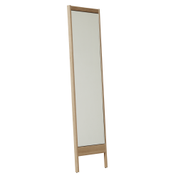 Form & Refine A Line Spejl, hvidolieret eg