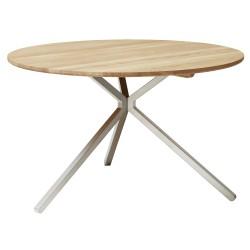 Form & Refine Frisbee Bord Ø120, hvidolieret eg